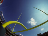American Football Goalpost Photographic Print by Paul Sutton