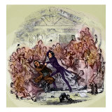 Charles Dickens's 'The Life and Adventures of Nicholas Nickleby' Reproduction procédé giclée