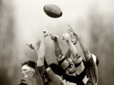 Rugby Player in Action, Paris, France Photographic Print