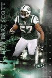 New York Jets - Bart Scott Plakater
