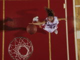 Female Basketball Player Going Up for a Shot Photographic Print