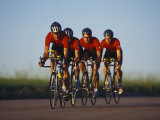 Road Cycling Team in Action Papier Photo