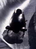 Silhouette of Bobsled in Action, Salt Lake City, Utah, USA Photographic Print by Chris Trotman