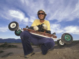 Portrait of Mountain Boarder, Colorado Springs, Colorado, USA Photographic Print