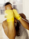Portrait of Boxer with Hands Taped, New York, New York, USA Photographic Print by Chris Trotman