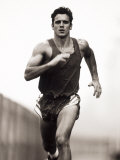 Male Runner Training, New York, New York, USA Photographic Print