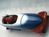 4 Man Bobsled Team in Action, Albertville, France Photographic Print by Steven Sutton