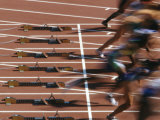 Detail of Start of Womens 100M Race Photographic Print by Steven Sutton
