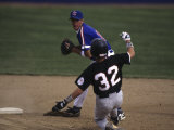 Baseball Players in Action Photographic Print