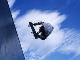 Skateboarder in Action over the Vert Fotografisk trykk