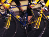 Detail of Cyclist Competing in Road Race Photographic Print by Paul Sutton