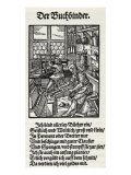 The Bookbinder' - a woodcut by Jost Amman, 1568 Reproduction procédé giclée par Jost Amman