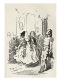 Vanity Fair by William Makepeace Thackeray, 'Glorvina trying her fascinations on the Major' Reproduction procédé giclée par William Makepeace Thackeray