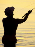 Fly Fisherman in the Florida Keys, Florida, USA Photographic Print