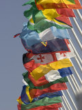 Flags of the Nation, Athens, Greece Photographic Print by Paul Sutton