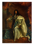 Louis XIV, King of France - after painting by Hyacinthe Rigaud, 1701 Giclee Print by Hyacinthe Rigaud