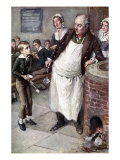 Charles Dickens - &#39;Oliver Twist asks for more&#39; Reproduction proc&#233;d&#233; gicl&#233;e par Harold Copping