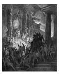 Paradise Lost, by John Milton: Satan in Council Reproduction procédé giclée par Gustave Doré