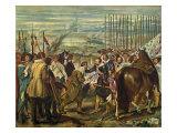 The Surrender of Breda (Las Lanzas) Giclée-Druck von Diego Rodriguez de Silva y Velazquez