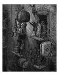 Victorian London warehouse Reproduction procédé giclée par Gustave Doré