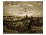 Abraham on his journey into Canaan Lámina giclée por Gustave Doré