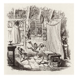 Brothers Grimm Children's and Household Tales published in 1812-15, The Elves and the Shoemaker Reproduction procédé giclée par George Cruikshank
