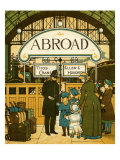 Boarding the train at the station in London Giclee Print by Thomas Crane