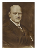 Dr. Gustav Stresemann, German politician and Nobel Prize winner, Photographic Print