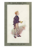The Adventures of Oliver Twist by Charles Dickens - Oliver asking for more food Giclee Print by Joseph Clayton Clarke