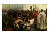 Reply of the Zaporozhian Cossacks after painting by Ilya Repin, 1880 - 1891 Giclee Print by Ilya Repin