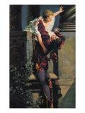 William Shakespeare's Romeo and Juliet balcony scene painting by Hans Makart Giclee Print by Hans Makart