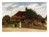 Cottages by Kate Greenaway Giclée-Druck von Kate Greenaway