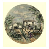 Edward Elgar birthplace as it looked in 1850 Reproduction procédé giclée