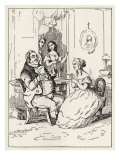 Vanity Fair - scene from the book by William Makepeace Thackeray of 'Mr Joseph entangled' Reproduction procédé giclée par William Makepeace Thackeray