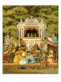 Punch and Judy show in In the Tuileries Gardens Giclee Print by Thomas Crane