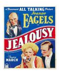 Jealousy, Jeanne Eagels, Fredric March on Window Card, 1929 Print