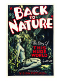 Back to Nature, 1933 Posters