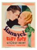 Baby Face, George Brent, Barbara Stanwyck, Barbara Staynwyck on Midget Window Card, 1933 Affiches