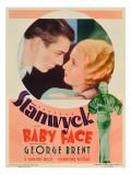 Baby Face, George Brent, Barbara Stanwyck, Barbara Staynwyck on Midget Window Card, 1933 Photo