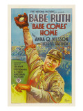Babe Comes Home, Babe Ruth, Style 'A' Poster, 1927 Photo