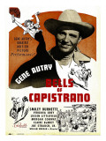 Bells of Capistrano, Gene Autry on Window Card, 1942 Poster