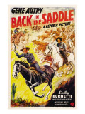 Back in the Saddle, Gene Autry, Smiley Burnette, 1941 Poster