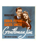 Gentleman Jim, Errol Flynn, Alexis Smith on Window Card, 1942 Posters