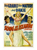 Song of the Islands, Victor Mature, Betty Grable, Jack Oakie, 1942 Prints