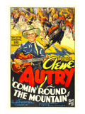 Comin' Round the Mountain, Gene Autry, Smiley Burnette, 1936 Affiches