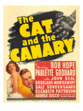 The Cat and the Canary, Paulette Goddard, Bob Hope on Window Card, 1939 Photo