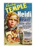 Heidi, Shirley Temple, Pauline Moore, Thomas Beck, Jean Hersholt, 1937 Prints