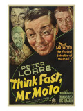 Think Fast, Mr. Moto, Peter Lorre, 1937 Prints