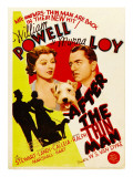 After the Thin Man, Myrna Loy, Asta, William Powell on Midget Window Card, 1936 Photo