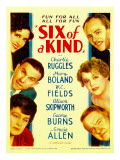 Six of a Kind, Gracie Allen, George Burns, Alison Skipworth, 1934 Print